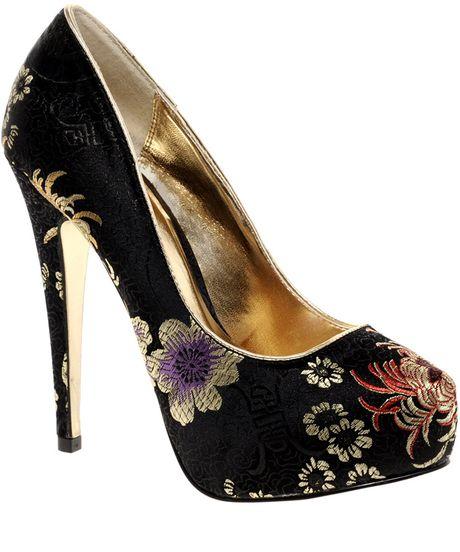 aldo poole platform court shoes in black lyst
