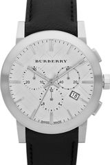 Burberry Stainless Steel and Leather Chronograph Watch - Lyst