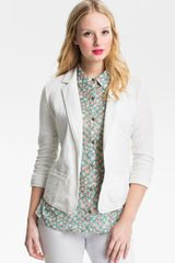 Caslon® Roll Sleeve Jacket - Lyst