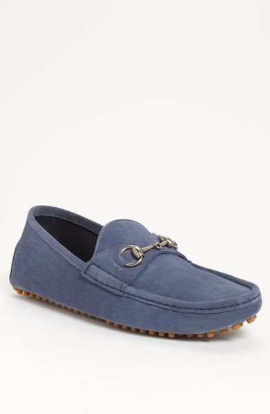 Gucci Damo Suede Driving Shoe in Blue for Men (blue suede) - Lyst