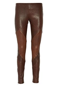 Haute Hippie Paneled Leather Pants - Lyst