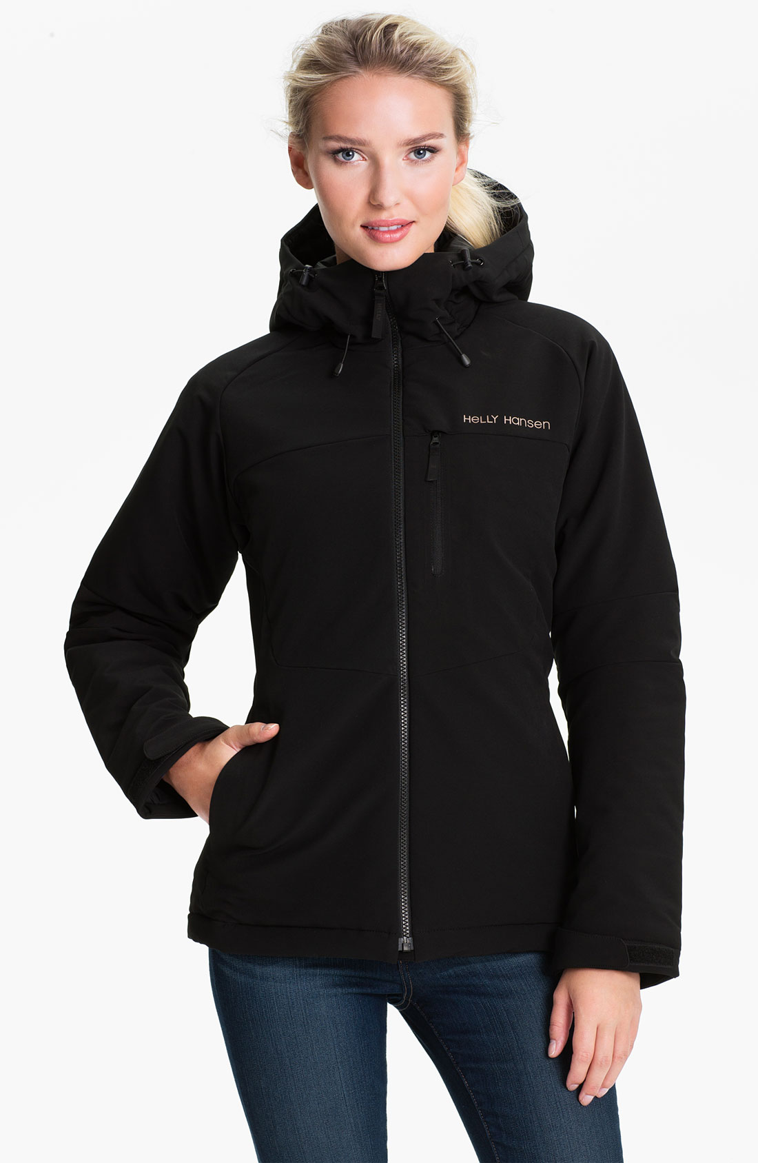 helly hansen rapide insulated soft shell jacket in black lyst. Black Bedroom Furniture Sets. Home Design Ideas