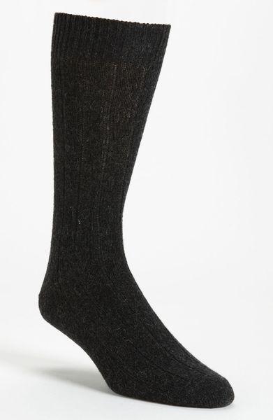 John W. Nordstrom® Cashmere Blend Socks in Gray for Men (charcoal)