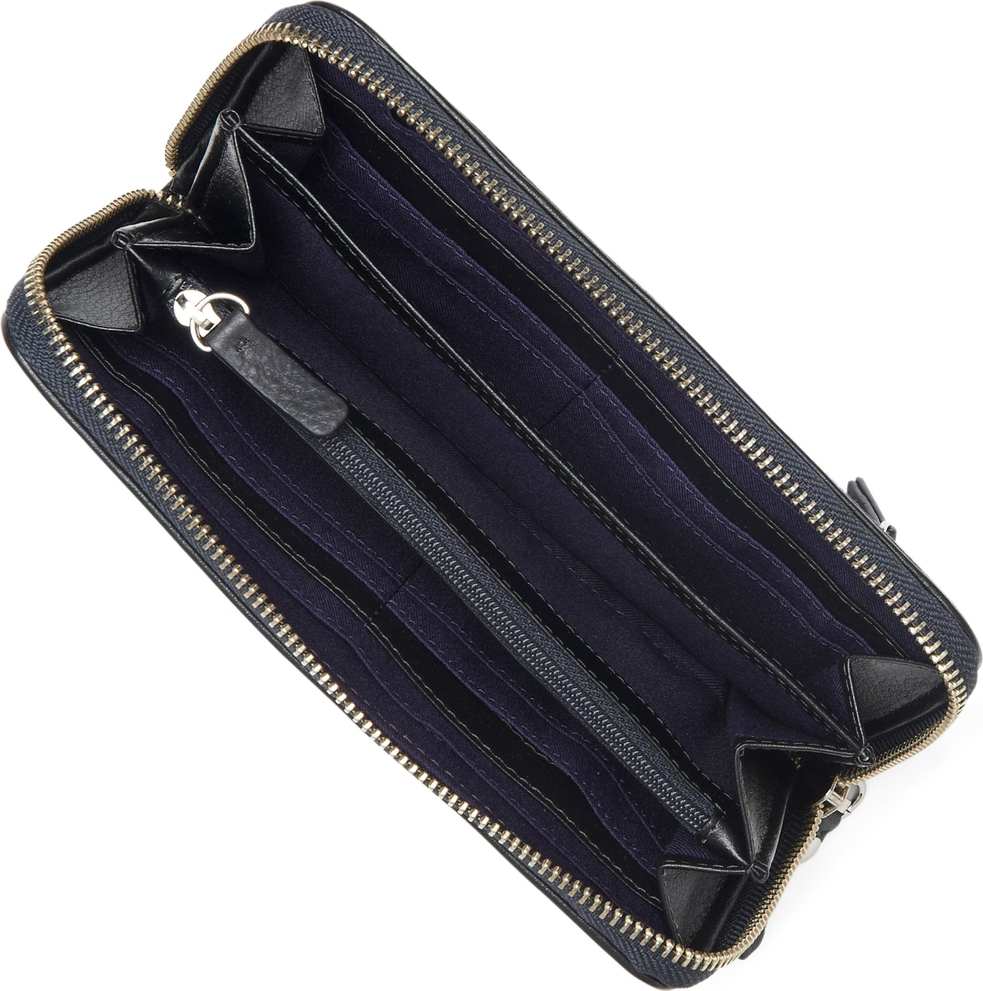 489af738d0c Juicy Couture All Hail Velour Wallet in Black - Lyst