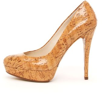 Kors By Michael Kors Cyprien Shiny Cork Pump - Lyst