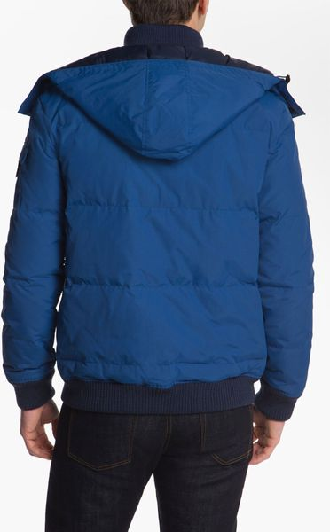 Lacoste Quilted Bomber Jacket In Blue For Men Epic Blue