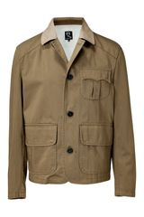 McQ by Alexander McQueen Stone military Khaki Cotton Jacket - Lyst