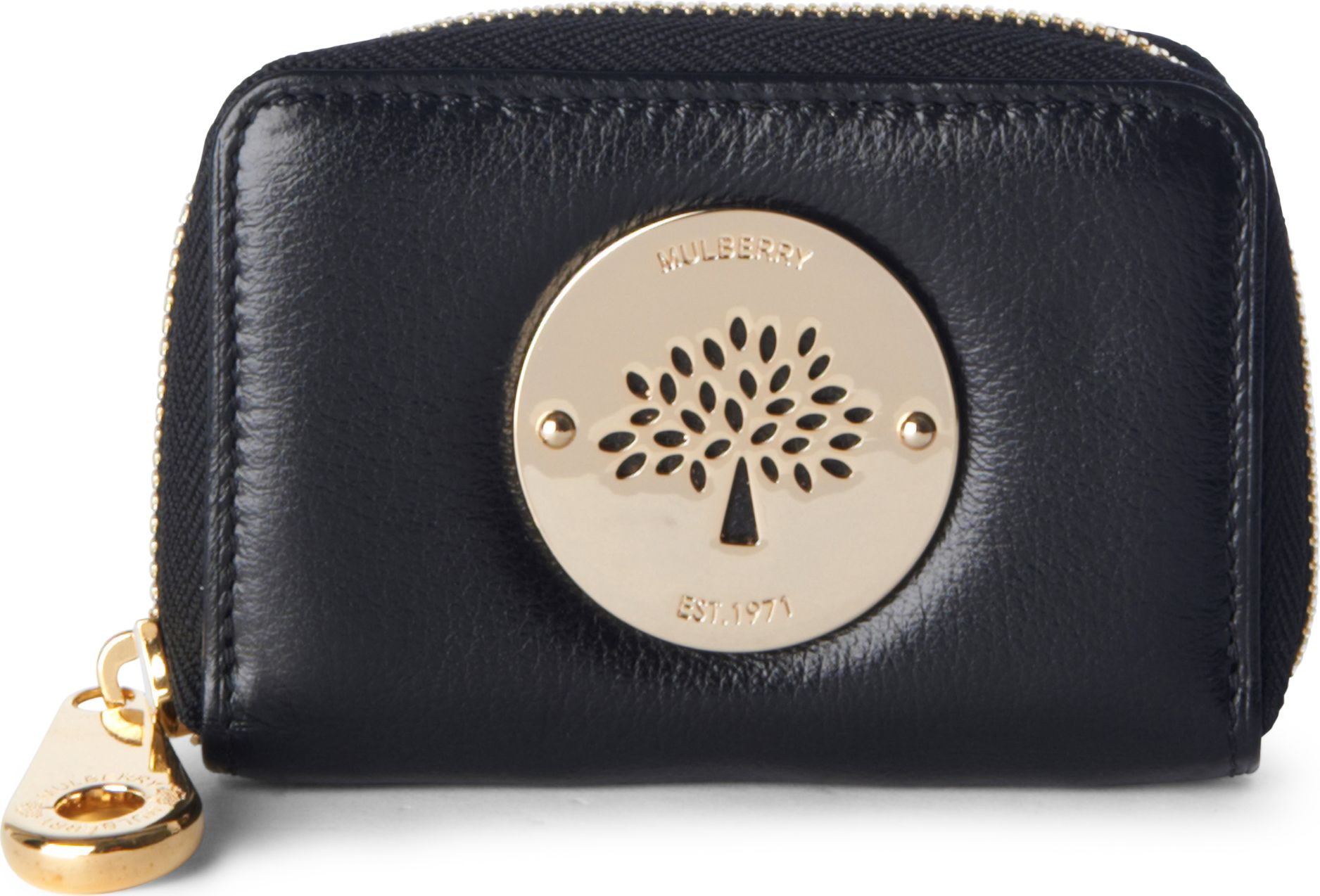 Mulberry Daria Ziparound Purse in Black - Lyst 76179665c56ee