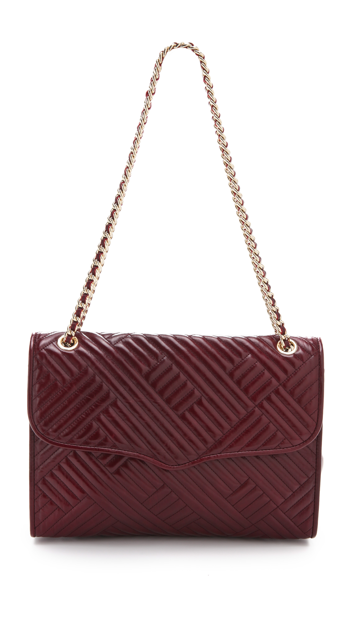 Rebecca Minkoff Line Quilted Large Affair Bag In Purple Lyst