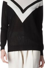 Stella McCartney Knitted Mesh Jumper - Lyst