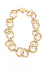 Tory Burch Rings Necklace - Lyst