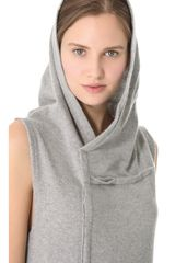 Donna Karan New York Sleeveless Hooded Tunic in Gray - Lyst
