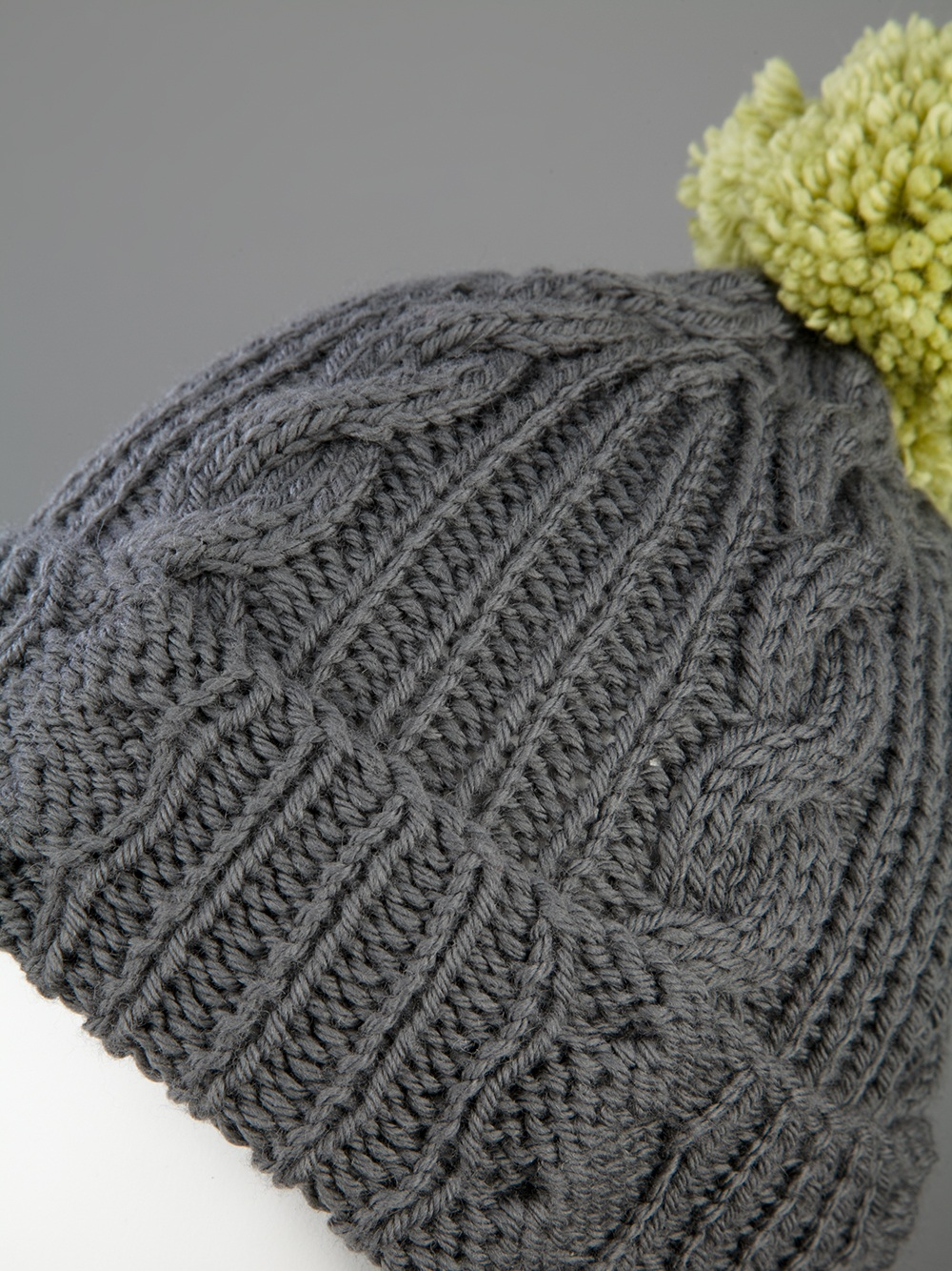 05caafc016a Lyst - Labour Of Love Grey Wool Bobble Hat in Gray
