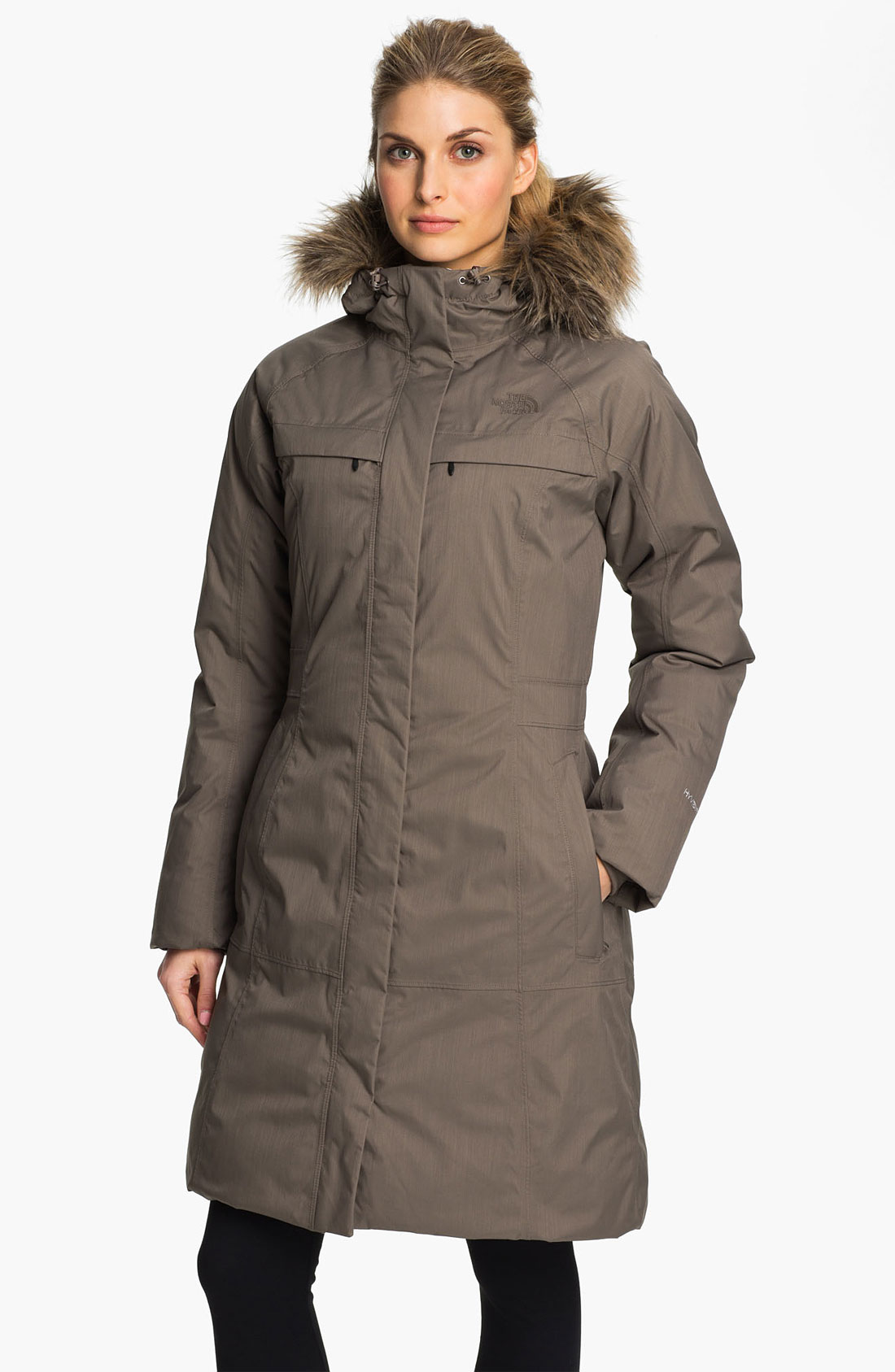 the north face arctic parka in brown weimaraner brown lyst. Black Bedroom Furniture Sets. Home Design Ideas
