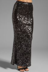 Blaque Label Sequined Trumpet Maxi Skirt - Lyst