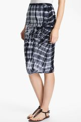 James Perse Tie Dye Ruched Pencil Skirt - Lyst