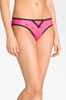 Betsey Johnson Heartbeat Lace Trim Bikini 3 For 27 - Lyst
