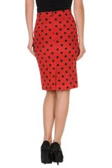 Dolce & Gabbana Knee Length Skirt in Red - Lyst