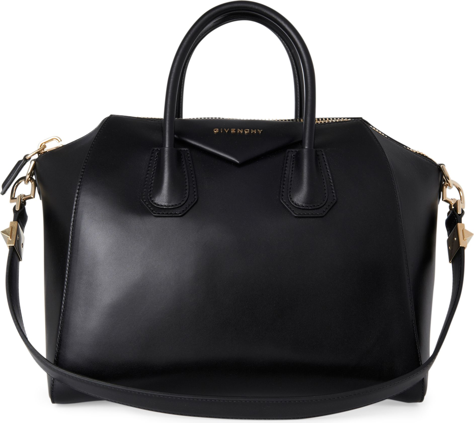 lyst givenchy antigona medium smooth leather tote in black. Black Bedroom Furniture Sets. Home Design Ideas