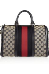 Gucci Vintage Web Monogram Canvas Duffel Bag - Lyst
