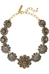 Oscar de la Renta 24karat Goldplated Crystal Necklace - Lyst