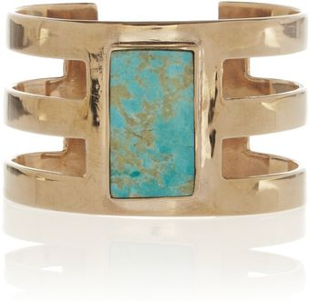Pamela Love Cutout Turquoise and Bronze Cuff - Lyst