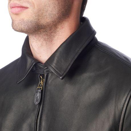 Ralph Lauren Benfield Leather Jacket in Black for Men | Lyst