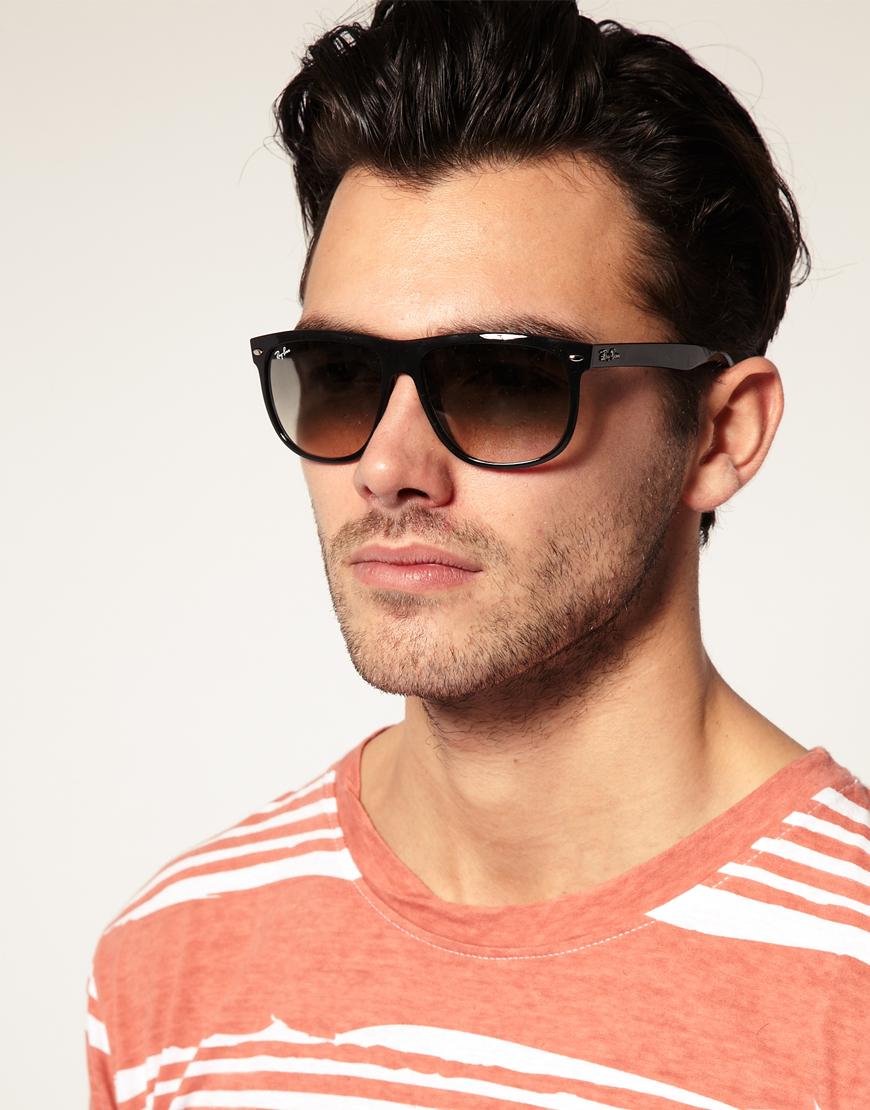 2b75133267 Lyst - Ray-Ban Rayban Flat Brow Wayfarer Sunglasses in Black for Men