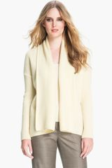 St. John Yellow Label Popcorn Knit Cashmere Cardigan - Lyst