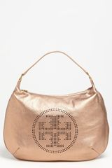 Tory Burch Metallic Leather Hobo - Lyst