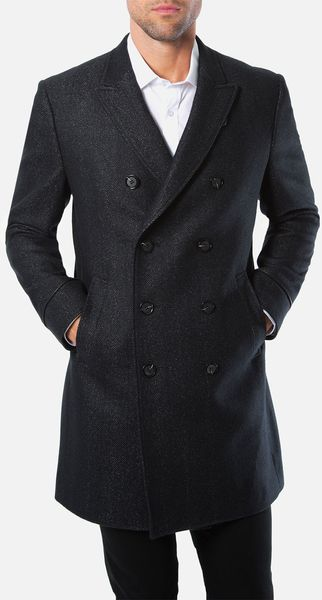 7 Diamonds Genoa Double Breasted Top Coat - Lyst