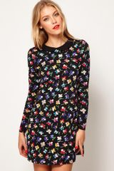 ASOS Collection Asos Swing Dress in Floral Print with Peter Pan Collar - Lyst