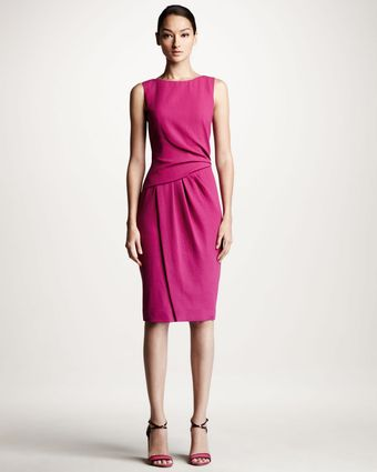 Carolina Herrera Draped Crepe Dress - Lyst