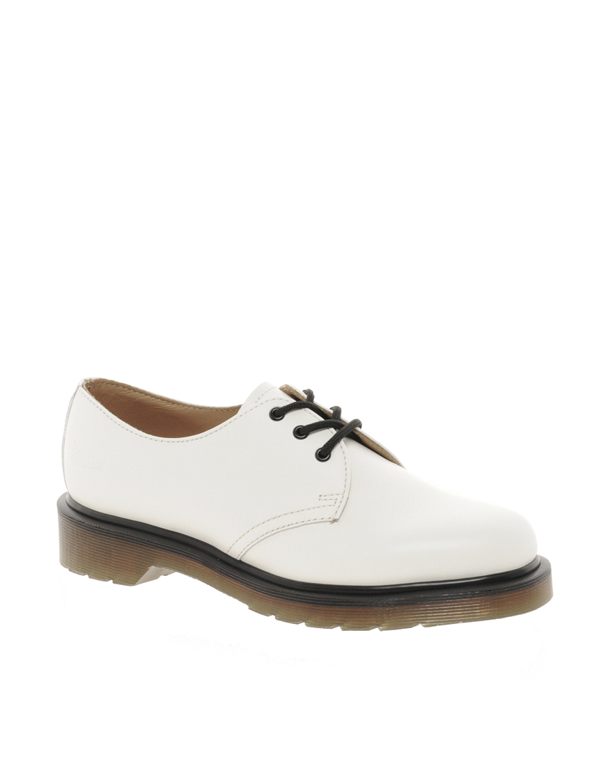 All White Doc Martens Shoes