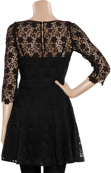 Juicy Couture Guipure Lace Dress In Black Lyst