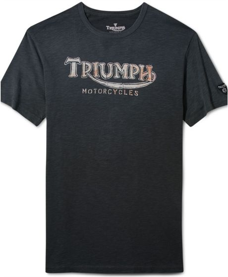 Lucky brand triumph records graphic t shirt in for men lyst for Lucky brand triumph shirt