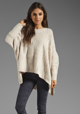Marc By Marc Jacobs Resort Glenda Cable Sweater in Tapioca Multi - Lyst