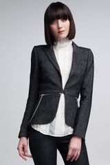 McQ by Alexander McQueen Zip Detail Kick Jacket - Lyst