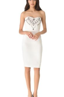 Notte By Marchesa Embroidered Strapless Dress - Lyst