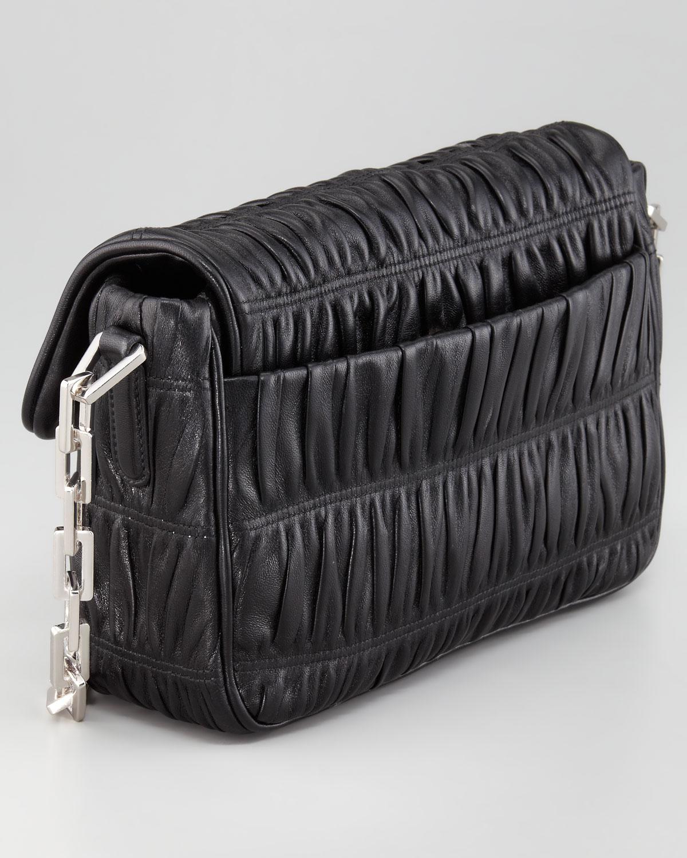 Prada Napa Gaufre Chain Shoulder Bag in Black (nero)   Lyst