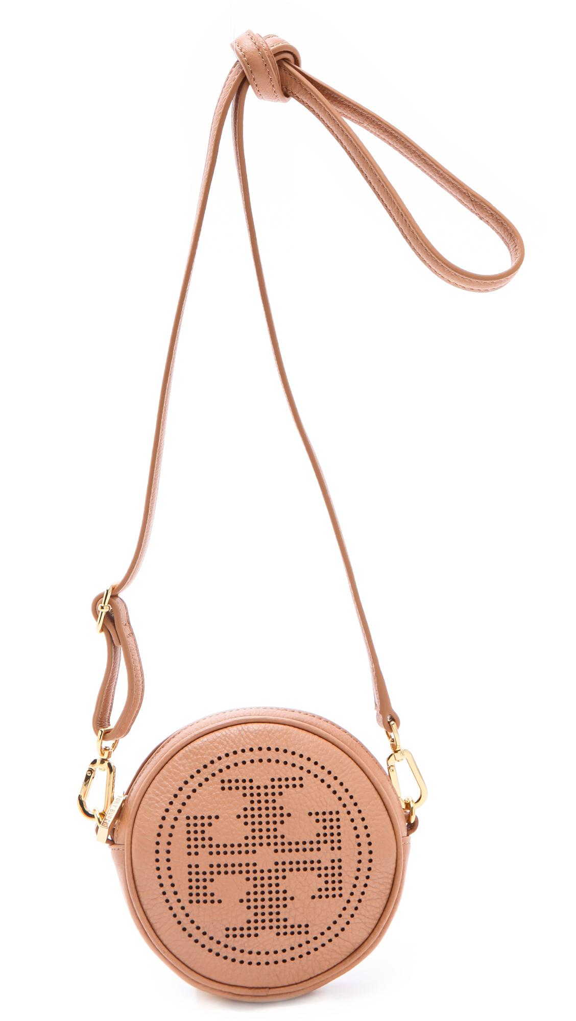 25cf90174ba Lyst - Tory Burch Perforated Logo Cross Body Bag in Pink