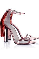Alexander Wang Fabiana Metallic Leather Sandals in Pink (blush) - Lyst