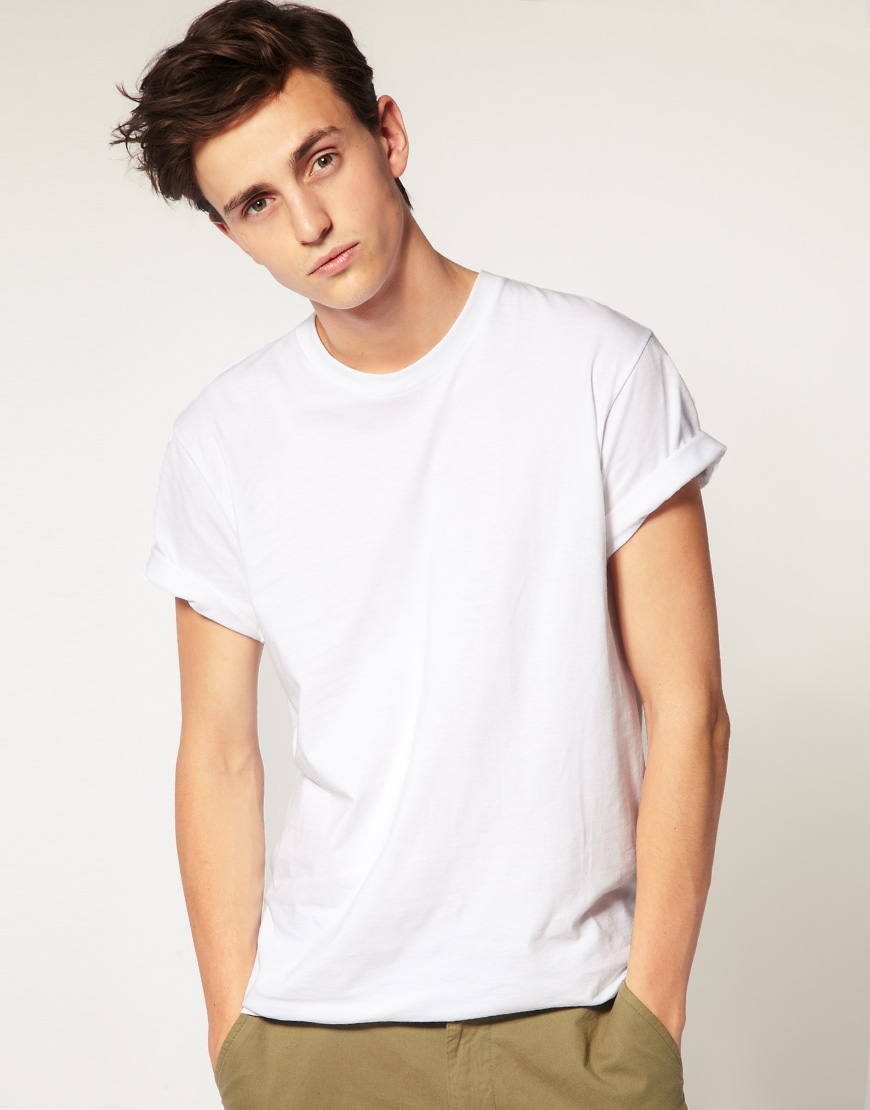 American apparel t shirt in white for men lyst for Wholesale t shirts american apparel