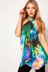 ASOS Collection Asos Halter Top with Galaxy Print - Lyst