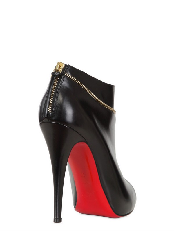 Christian louboutin 120mm Col Zipped Calf Open Toe Low Boots in ...