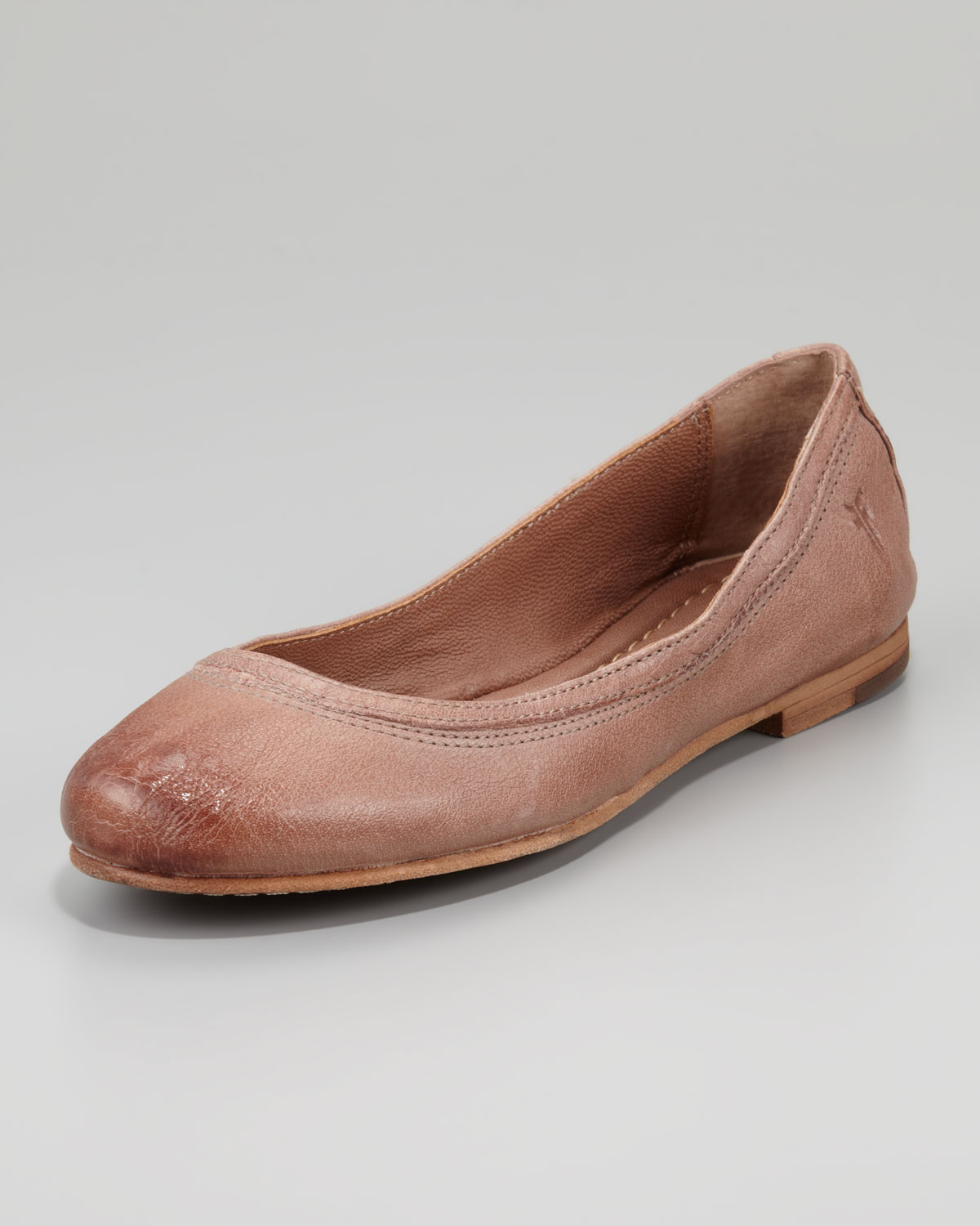 Frye Carson Antique Leather Flats TRSBdoq