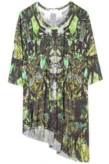 Helmut Lang Print Top with Dropped Sleeves - Lyst