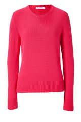 Jil Sander Poppy Red Cashmere Knit Pullover in Red (poppy) - Lyst