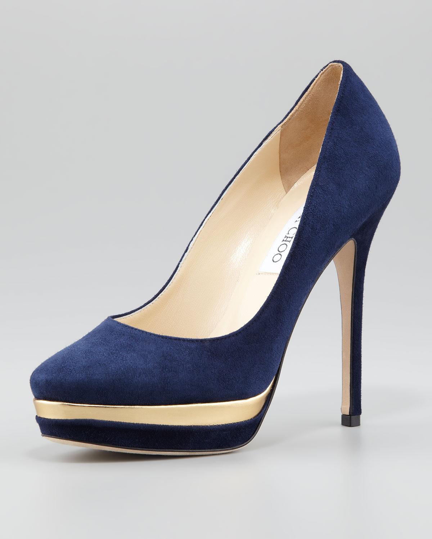 Nine West Blue Suede Shoes