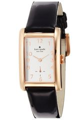 Kate Spade Cooper Grand Rectangle Leather Strap Watch - Lyst